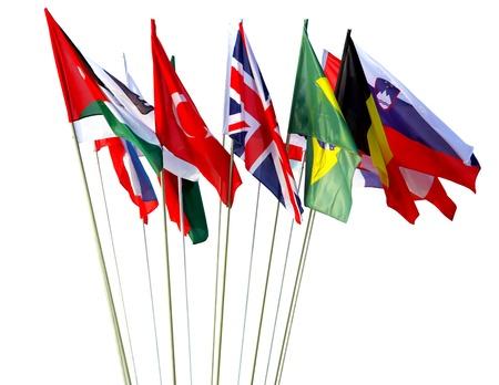 země: Světové vlajky Reklamní fotografie