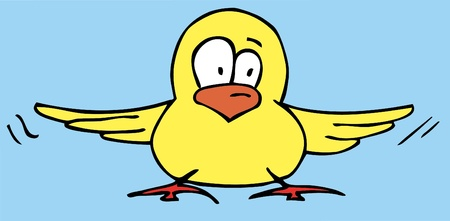 Funny Bird cartoon Vector