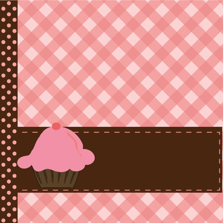 Greeting card with cake Vector