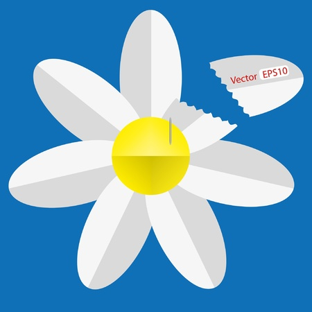 Paper origami flower Stock Vector - 9934707