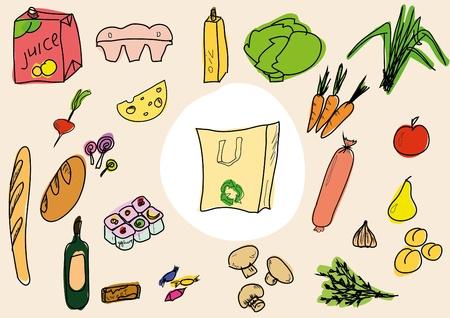 tinned: Food sketch Illustration