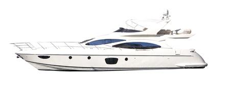 yacht race: Yate blanco aislado