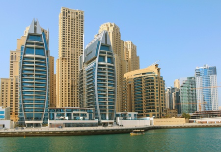 Town scape at summer. Panoramic scene, Dubai. photo