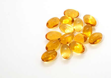 Oil vitamins yellow capsule Stock Photo - 9965267
