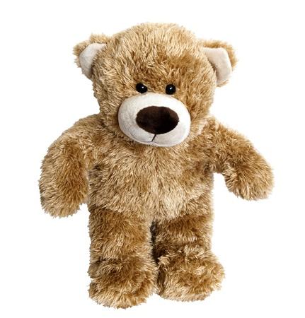 osos navide�os: Oso de peluche aislado en el fondo blanco