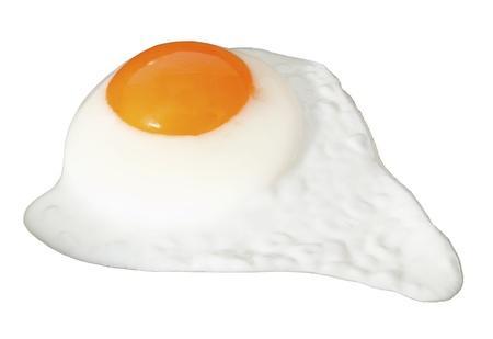 Fried egg isolated on the white background Stock Photo - 9964989