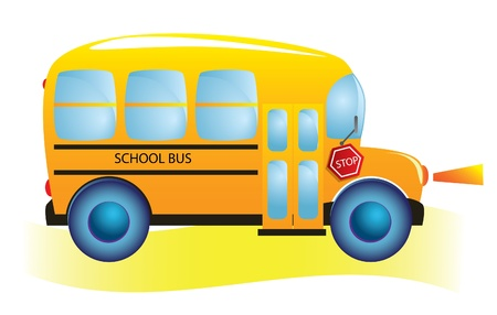 School bus. Back to school. Stock Vector - 9935431