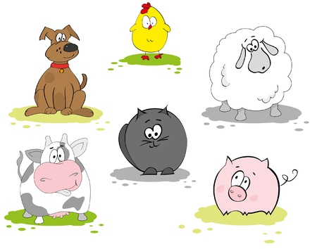 Set of domestic animal Vector
