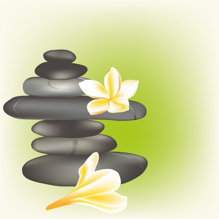 spa stones with frangipani Stock Vector - 9935274