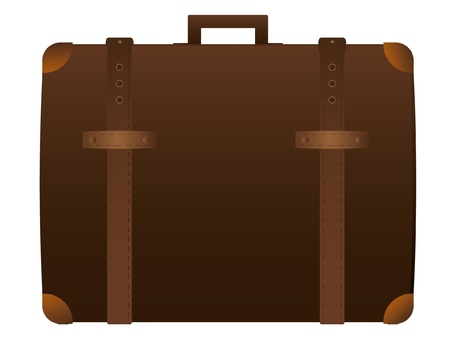 Suitcase  isolated on the white Vector