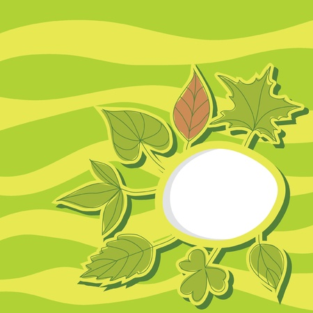Summer leaves background illustration Stock Vector - 9935428