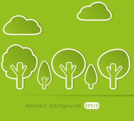 Abstract tree Stock Vector - 9935387