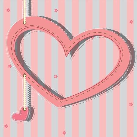 Tarjeta de felicitación con corazones Foto de archivo - 9935470