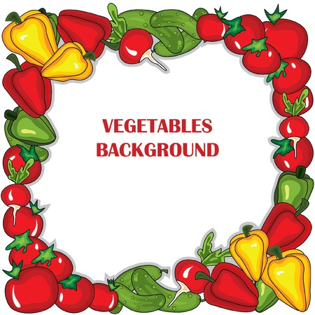 Abstract vegetables  frame. Stock Vector - 10049613