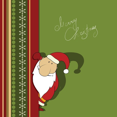 Christmas illustration with Santa. Series. Look more in my gallery Vector