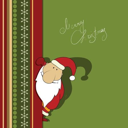 Kerstmis illustratie met Santa. Serie. Kijken meer in mijn galerij