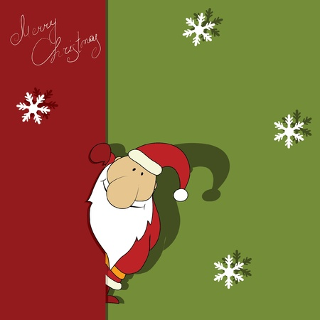 classic santa: Christmas illustration with Santa. Series. Look more in my gallery