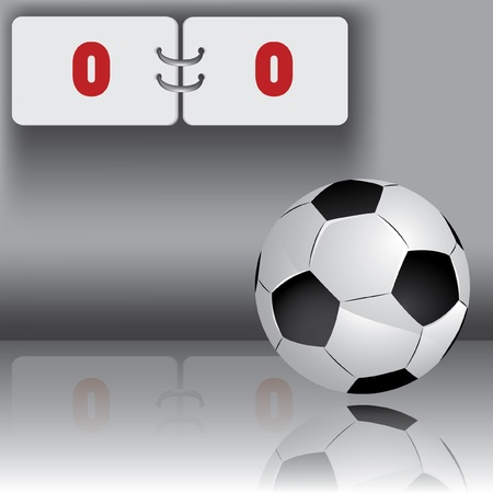 score board: Football ball with panel for score Illustration