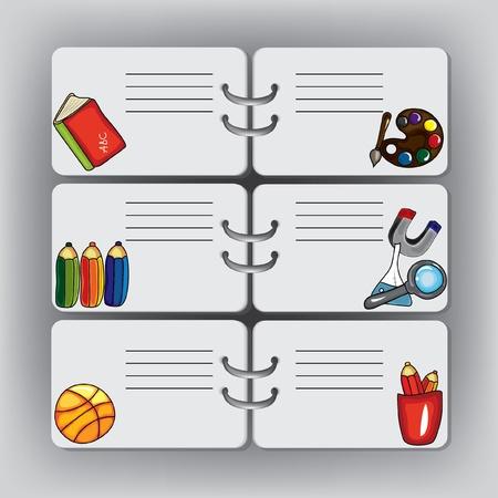 calendario escolar: Antecedentes escolares con elementos de diseño. Es bueno para la programación