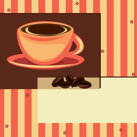 Coffee design card. Place for you text Vector