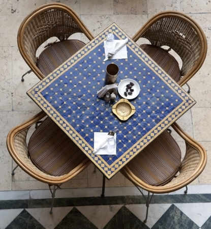 Cafe table. Arabic style.  photo