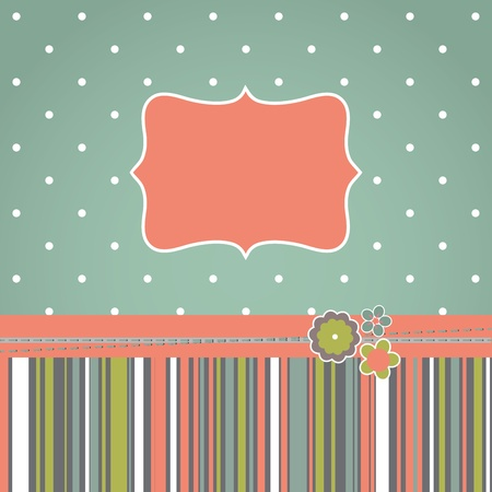 Template greeting retro design card. Vector illustration