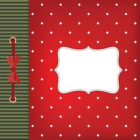 ferraille: carte de voeux No�l avec archet. Espace pour votre texte ou image. Illustration