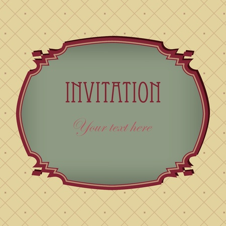 Vector vintage  invitation grunge card. Space for your text or picture. Vector