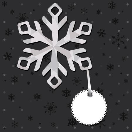 boule de neige: Noël et le Nouvel An avec des cartes de voeux flocons de neige. Illustration