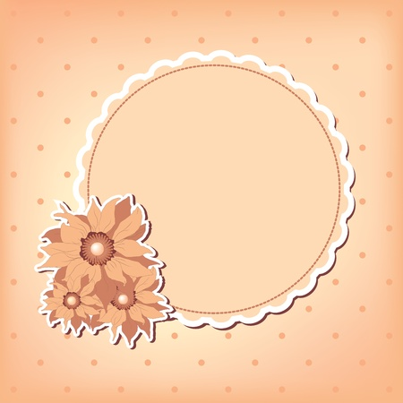 greeting card with flower. Space for your text or picture. Vector