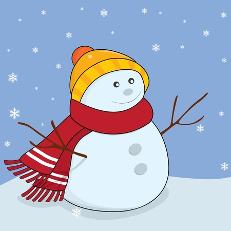 Snowman. Winter illustration Vector