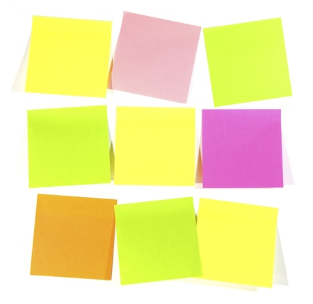 postits: Postit  for reminder note  on the white background