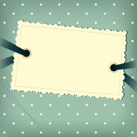 Greeting scrap retro background with empty photo blank. Vector
