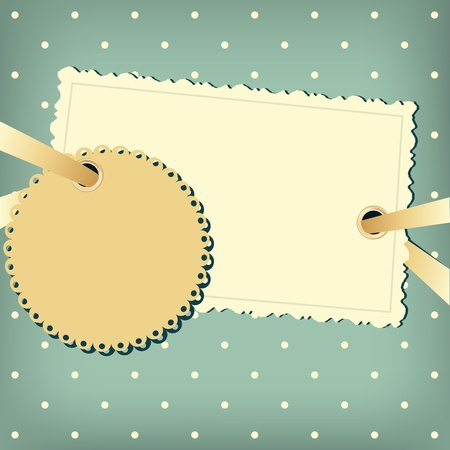 Greeting scrap retro background with empty photo blank. Stock Vector - 11531427