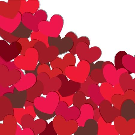 Hearts. Valentijn kaart.