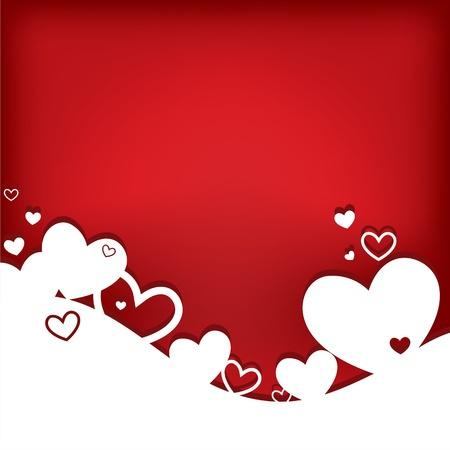 Cuori. Valentine card. Illustrazione vettoriale. EPS10. Archivio Fotografico - 11696934