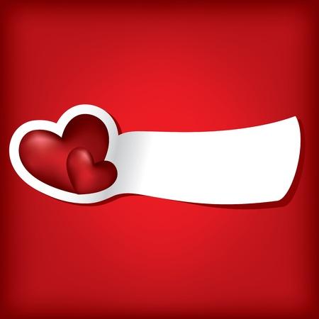 saint valentin coeur: Deux coeurs. Carte de la Saint-Valentin. Vector illustration. EPS10.