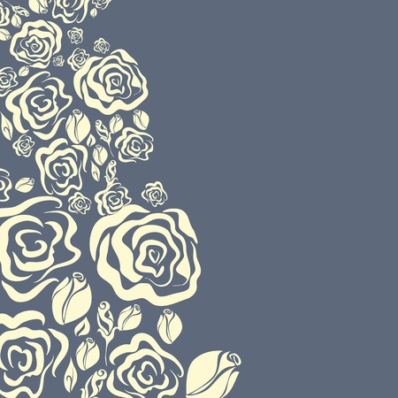 wedding card design: Floral ornament. Greeting card Illustration