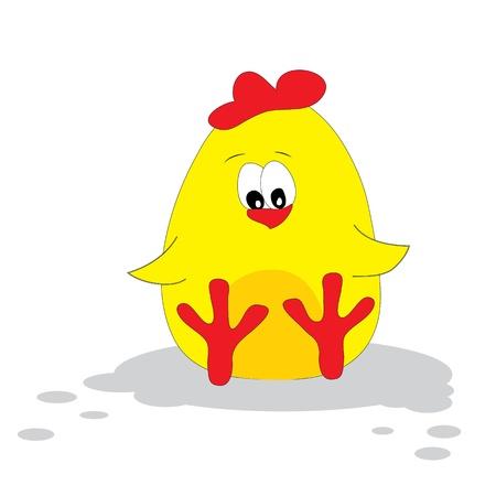 chick: Cute chicken.  Illustration