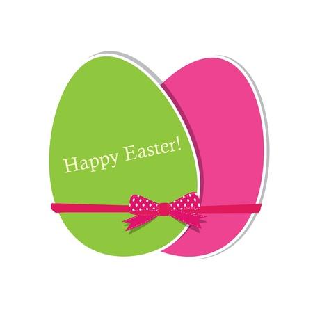Biglietto di auguri di Pasqua con le uova Archivio Fotografico - 11961983