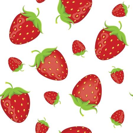 Strawberry seamless Иллюстрация