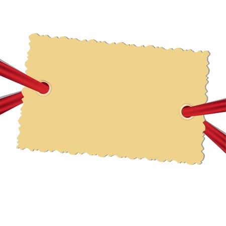 Lege foto blanco op de witte achtergrond. Vector illustratie.