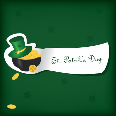 St Patricks Day card with  Irish holidays symbols. Vector illustration Vector