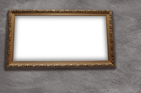 emty: Frame with emty blank on the grunge  wall background Stock Photo