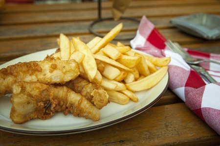 Fish and chips. Traditional british snack on the table Stock Photo - 12751484