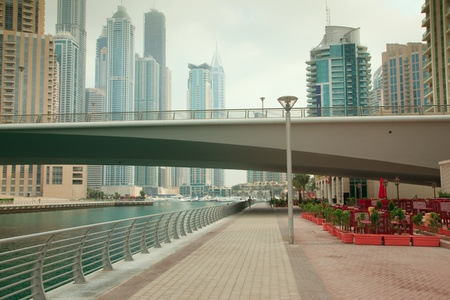 city alley: Dubai Marina in the morning time