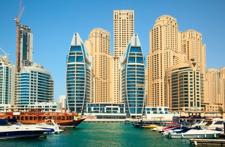Dubai. Modern city on the shore of the Persian gulf