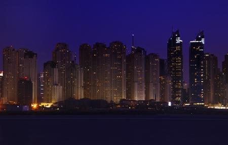Dubai  in the night time Stock Photo - 12917875