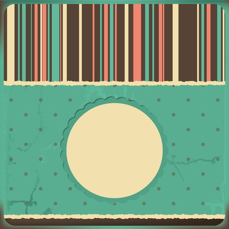 paper textures: Vector greeting card with frame and polka dots background  Space for your text or picture
