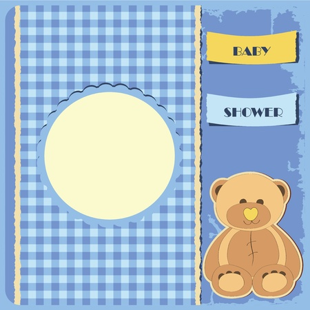 Baby shower for boy  Greeting card  Frame and place for your text or picture Vector